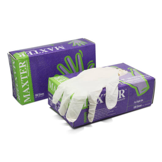 Latex Gloves, premium quality, lightly powdered (100 pcs) (S)